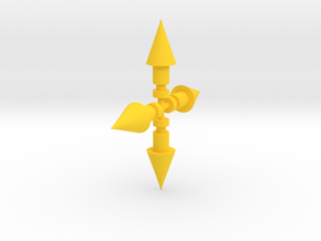 Blue Barratak Missiles in Yellow Processed Versatile Plastic