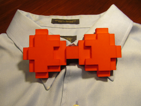 8-bit Bow tie in Red Processed Versatile Plastic