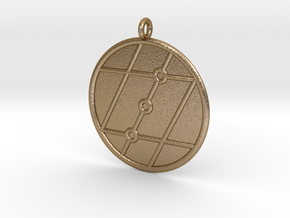 Geometry Symbol in Polished Gold Steel