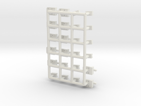 Misc boxcar part in White Natural Versatile Plastic