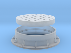 Heavy Drain Grate 1/32 scale in Smooth Fine Detail Plastic