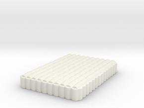 Roman Testudo   10x14 6mm in White Natural Versatile Plastic