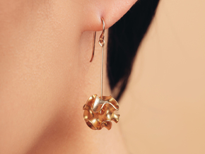 Porifera Earrings in Natural Brass