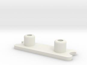 Federhalter mit Federwegsbegrenzer in White Natural Versatile Plastic