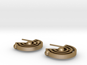 Orbital Ear-rings in Polished Gold Steel