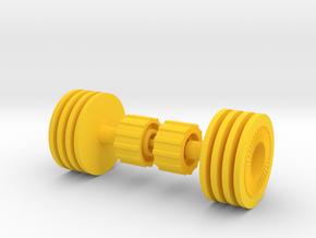 Hot Rodder Wheels in Yellow Processed Versatile Plastic