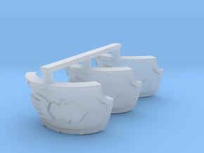 Steel Handed Warriors Centaur shoulder pads #2 in Smooth Fine Detail Plastic