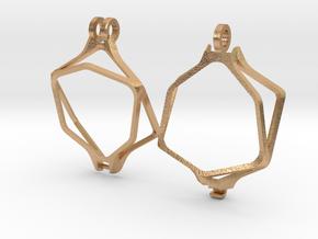 Dice Pendant - D20 - 22 mm (MTG Spindown) in Natural Bronze: Medium