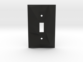 Facellux: Single Switch Wall Plate in Black Natural Versatile Plastic