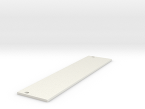 Eurorack Blank Panel 6HP in White Natural Versatile Plastic