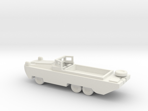 1/100 Scale DUKW in White Natural Versatile Plastic