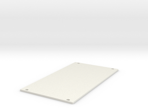 Eurorack Blank Panel 14HP in White Natural Versatile Plastic