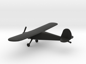 Cessna 120 in Black Natural Versatile Plastic: 1:100