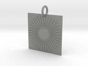Sambhala Sun Pendant in Gray PA12: Small