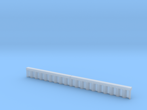 N Scale Sheet Piling Quay Wall H13 L142.5 in Smooth Fine Detail Plastic