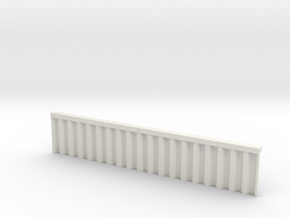 N Scale Sheet Piling Quay Wall H28 L142.5 in White Natural Versatile Plastic