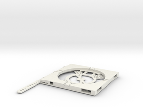 T-9-wagon-turntable-84d-100-plus-base-flat-1a in White Natural Versatile Plastic