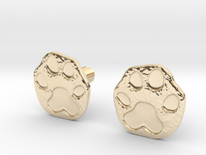 Cats Paw Earring in 14K Yellow Gold