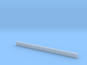 1:285 Quay Wall Sheet Piling H10mm in Smooth Fine Detail Plastic
