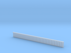 1:285 Quay Wall Sheet Piling H15mm in Smooth Fine Detail Plastic