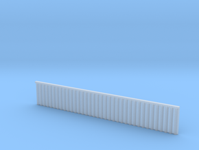 1:285 Quay Wall Sheet Piling H25mm in Smooth Fine Detail Plastic