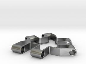 Material test part 1/2, Modular building block in Natural Silver