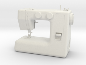 1/3rd Scale Sewing Machine in White Natural Versatile Plastic