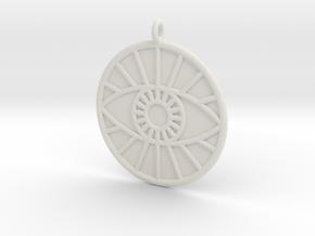 Theology Symbol in White Natural Versatile Plastic