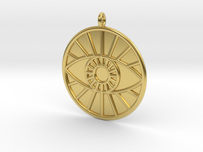 Theology Symbol in Polished Brass