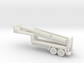 1/144 Scale M790 Pershing Missile Tailer in White Natural Versatile Plastic