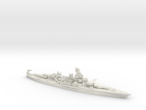 BB49 South Dakota [1944] (CO/MA style refit) in White Natural Versatile Plastic: 1:1800