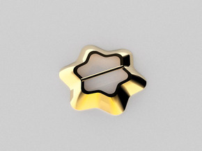 Flower Scarf ring in 14k Gold Plated Brass