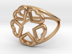 Hearts Hidden Pentacle Ring in Natural Bronze: 11 / 64