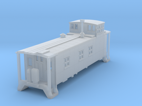 D&RGW Caboose 1400Series  in Smooth Fine Detail Plastic