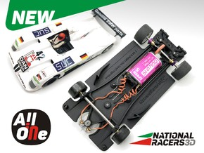 3D Chassis - Arrow Slot V12 (Inline - AiO) in Black Natural Versatile Plastic