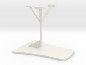 Stand for 1/72 scale in-flight Model Aircraft in White Natural Versatile Plastic