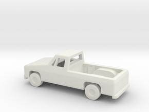 1/144 Scale Pickup in White Natural Versatile Plastic