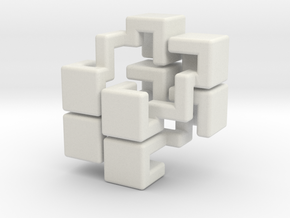 Sonneveld's 4-Piece Cube (all pieces) in White Natural Versatile Plastic