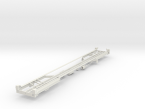 7mm TCA tank wagon chassis in White Natural Versatile Plastic