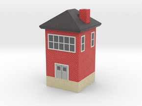 mini tower building with roof and chimney N scale in Natural Full Color Sandstone