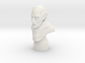 Nosferatu Bust in White Natural Versatile Plastic: 6mm