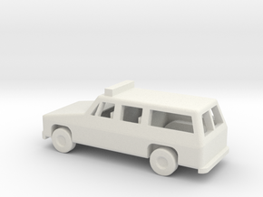 1/144 Scale Suburban With Lights in White Natural Versatile Plastic