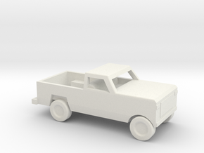 1/144 Scale Dodge Pickup in White Natural Versatile Plastic