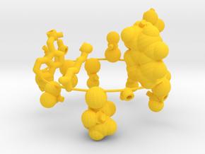 Amino acid pop set in Yellow Processed Versatile Plastic