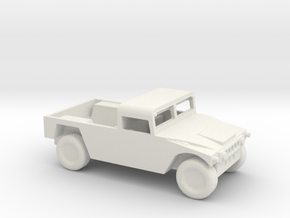 1/100 Scale Humvee Soft Top in White Natural Versatile Plastic