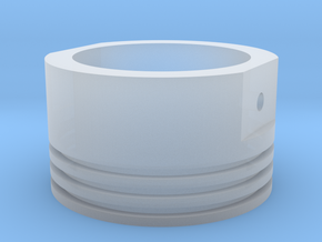 PISTON BAND RING in Smoothest Fine Detail Plastic: 3.75 / 45.875