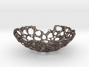 Bone Bowl 21cm in Polished Bronzed Silver Steel