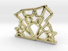 Lightning Star Pendant in 18K Yellow Gold: Small