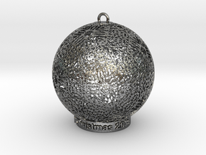 Tree Ornament 1 in Fine Detail Polished Silver