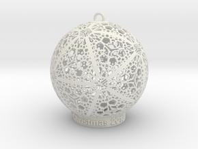 Tree Ornament 2 in White Natural Versatile Plastic: Medium